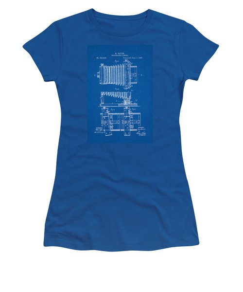 1897 Camera Us Patent Invention Drawing - Blueprint Women's T-Shirt