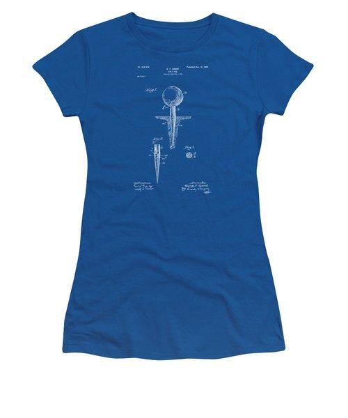 1899 Golf Tee Patent Artwork - Blueprint Women's T-Shirt (Junior Cut) by Nikki Marie Smith