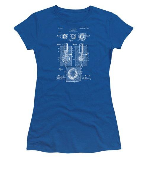 1902 Golf Ball Patent Artwork - Blueprint Women's T-Shirt