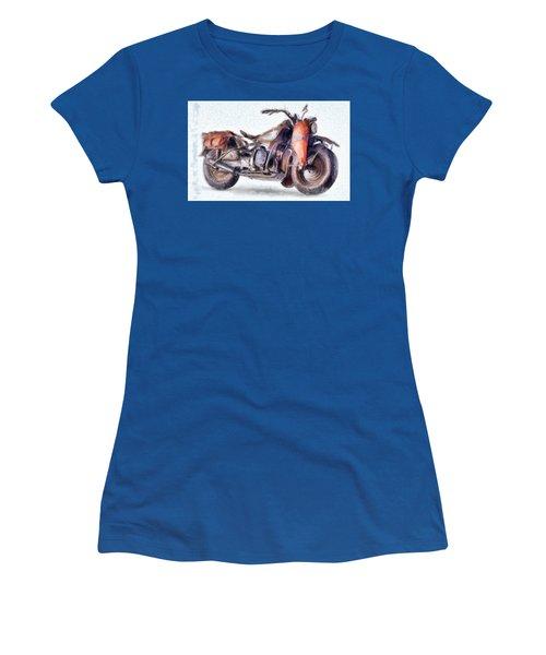 1942 Harley Davidson, Military, 750cc Women's T-Shirt