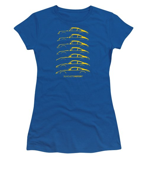 Boxer Sports Car Silhouettehistory Women's T-Shirt