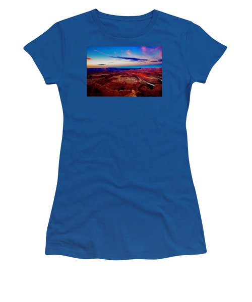 Women's T-Shirt (Athletic Fit) featuring the photograph Dead Horse Point by Norman Hall