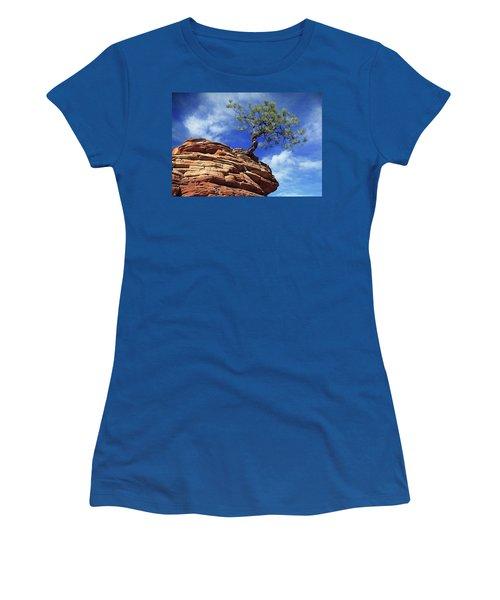 Pine Tree In Sandstone Women's T-Shirt