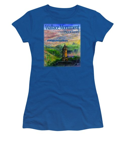 Wallace Monument Scotland Women's T-Shirt (Athletic Fit)