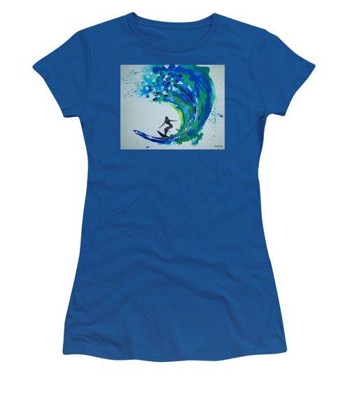 Badwave Women's T-Shirt (Athletic Fit)