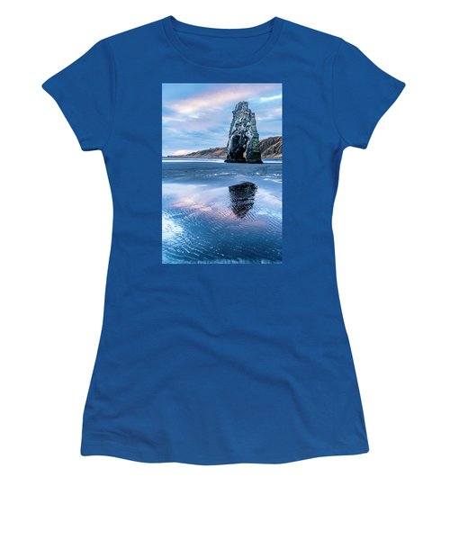 Dinosaur Rock Beach In Iceland Women's T-Shirt (Athletic Fit)