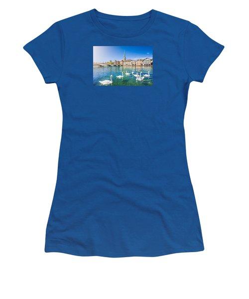 Zurich Women's T-Shirt (Junior Cut) by JR Photography