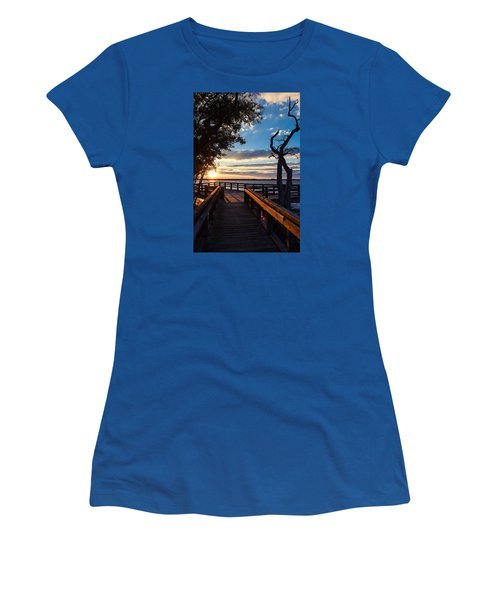 Sunset On The Cape Fear River Women's T-Shirt (Athletic Fit)