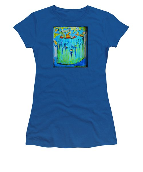 A Bucket Of Flowers Women's T-Shirt (Junior Cut) by DAKRI Sinclair