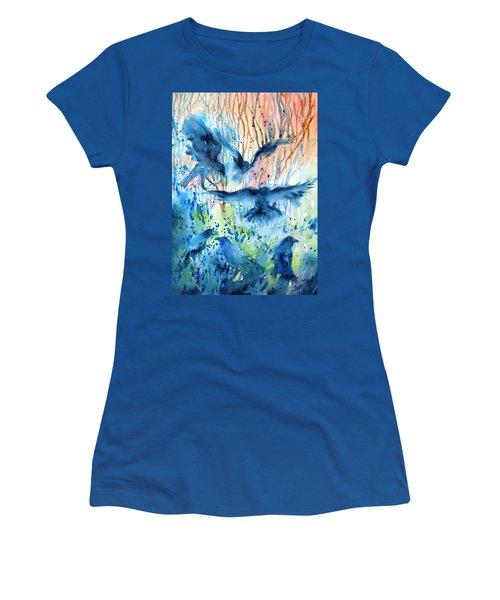 A Conspiracy Of Ravens  Women's T-Shirt (Junior Cut) by Trudi Doyle