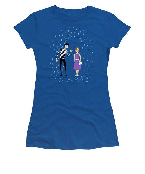 Women's T-Shirt (Junior Cut) featuring the digital art A Helping Hand by Ben Hartnett