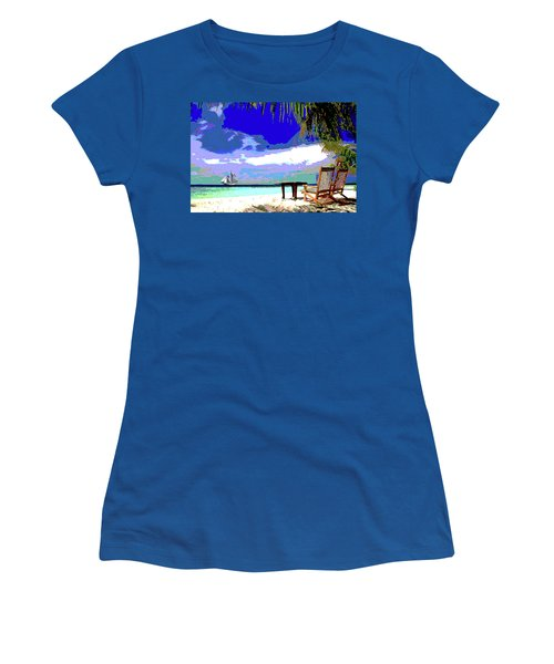 A Sunny Day At The Beach Women's T-Shirt (Athletic Fit)
