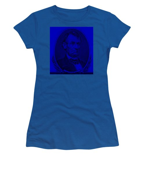 Women's T-Shirt (Athletic Fit) featuring the photograph Abe On The 5 Violet by Rob Hans