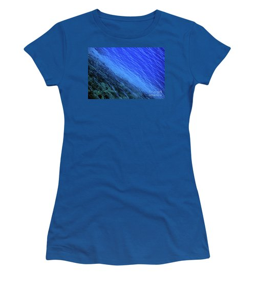 Abstract Crater Lake Blue Water Women's T-Shirt