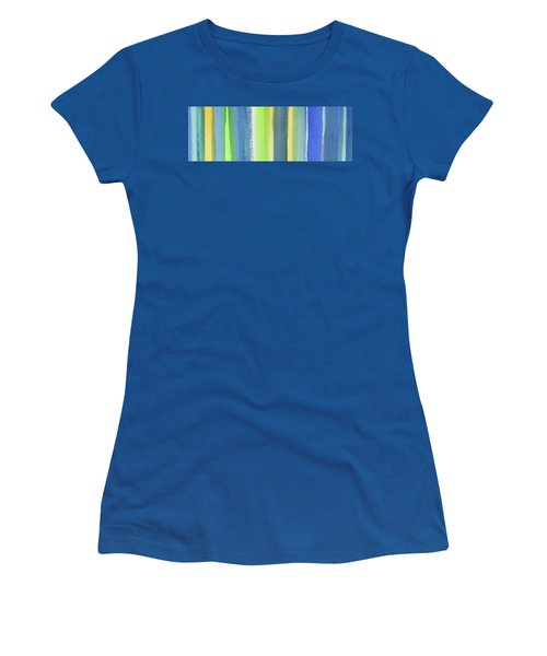 Abstract Lines In Blue Yellow Green II Women's T-Shirt