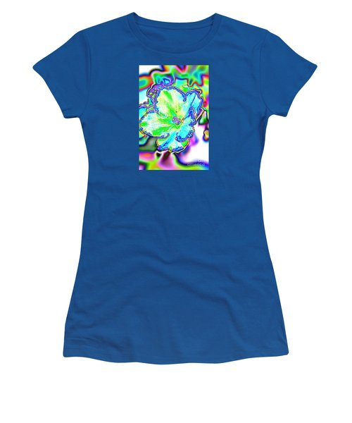 Abstract Of Violet Women's T-Shirt (Athletic Fit)