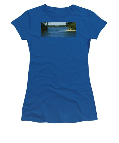 Women's T-Shirt (Junior Cut) featuring the photograph Across The Bay by Ramona Whiteaker