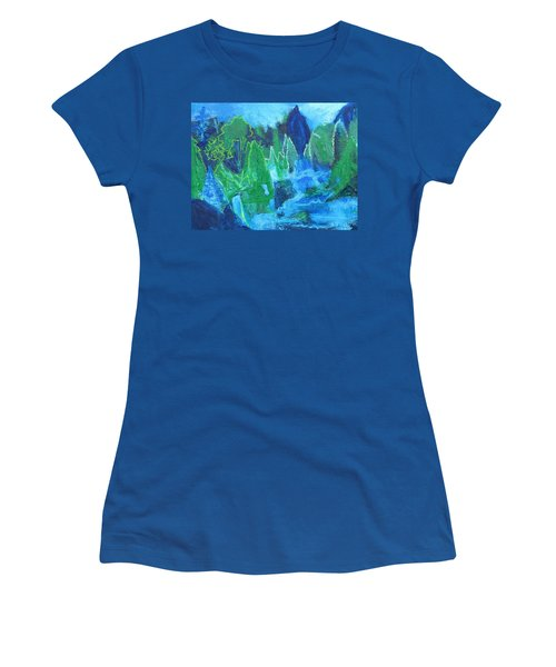Women's T-Shirt (Junior Cut) featuring the painting Adirondack Spring by Betty Pieper