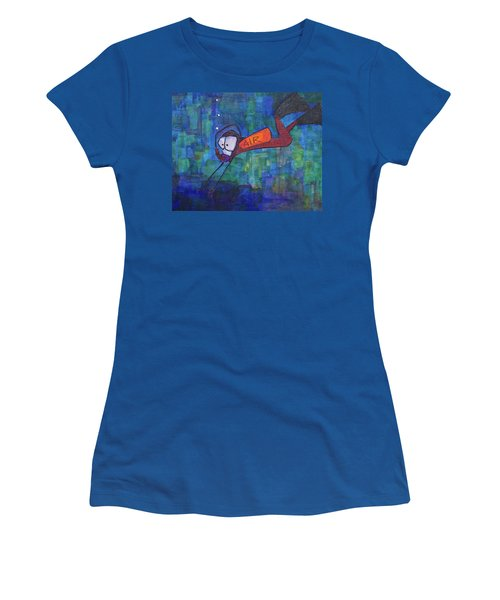 Women's T-Shirt (Junior Cut) featuring the painting air by Donna Howard