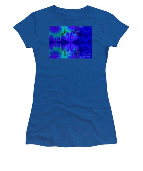 Alien Sunset Over Fantasy Lake Women's T-Shirt