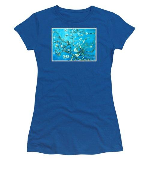 Almond Blossom Women's T-Shirt (Junior Cut) by Eric  Schiabor