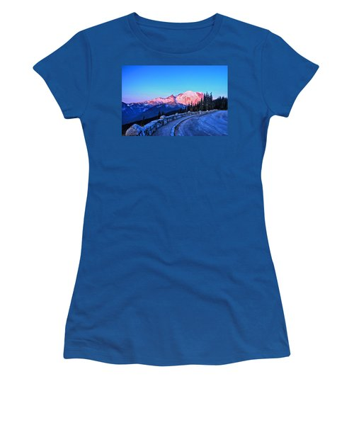 Alpenglow At Mt. Rainier Women's T-Shirt