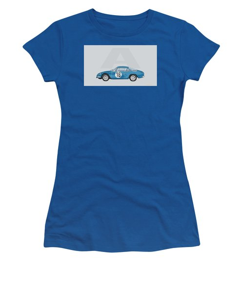 Women's T-Shirt (Athletic Fit) featuring the mixed media Alpine A110 by TortureLord Art