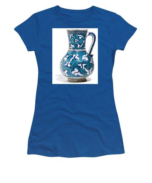 An Ottoman Iznik Style Floral Design Pottery Jug Polychrome, By Adam Asar, No 16v Women's T-Shirt