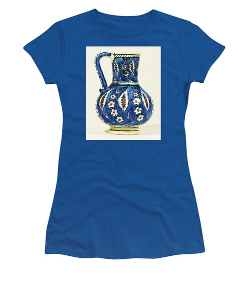 An Ottoman Iznik Style Floral Design Pottery Polychrome, By Adam Asar, No 19a Women's T-Shirt