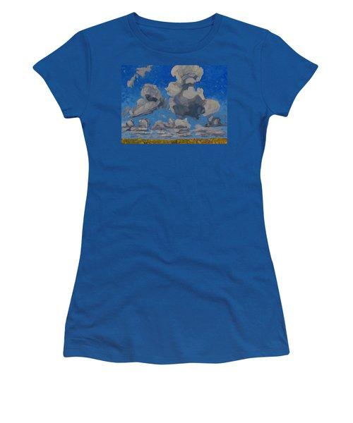 April Cumulus Women's T-Shirt (Athletic Fit)