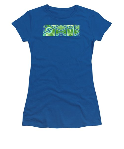 Women's T-Shirt (Junior Cut) featuring the digital art Aquamarine by Ron Bissett