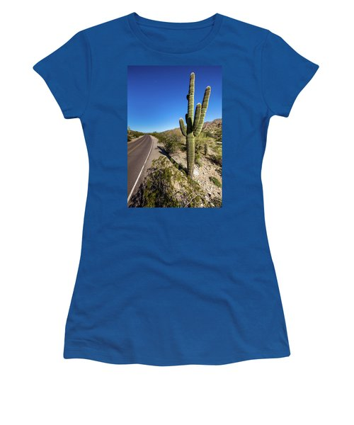 Women's T-Shirt (Junior Cut) featuring the photograph Arizona Highway by Ed Cilley