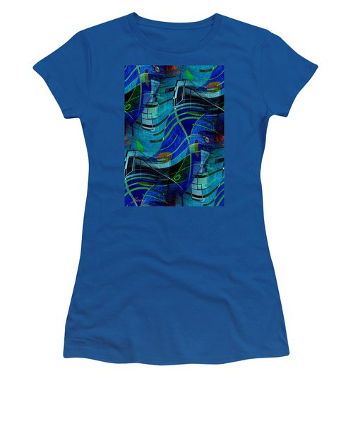 Women's T-Shirt (Junior Cut) featuring the digital art Art Abstract With Culture by Sheila Mcdonald