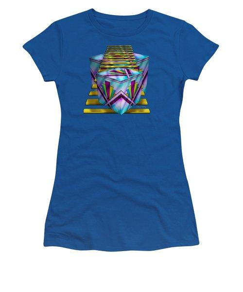 Art Deco Cubes 1 - Transparent Women's T-Shirt