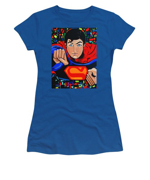 Art Deco  Superman Women's T-Shirt (Junior Cut) by Nora Shepley