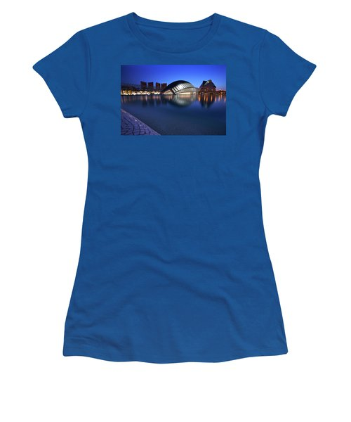 Women's T-Shirt (Junior Cut) featuring the photograph Arts And Science Museum Valencia by Graham Hawcroft pixsellpix