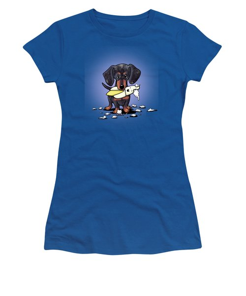 Dapple Doxie Destroyer Women's T-Shirt (Athletic Fit)