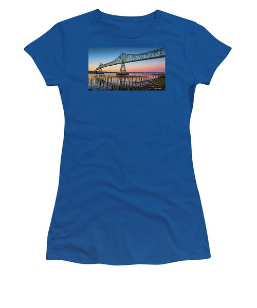 Astoria Megler Bridge Women's T-Shirt (Athletic Fit)