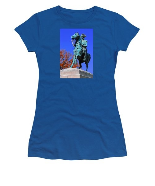 At The Battle Of Princeton Women's T-Shirt (Junior Cut) by Iryna Goodall