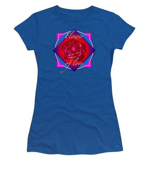 August Rose Women's T-Shirt (Junior Cut) by Richard Farrington