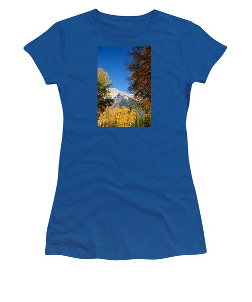 Autumn Peaks Women's T-Shirt (Junior Cut) by Lawrence Boothby