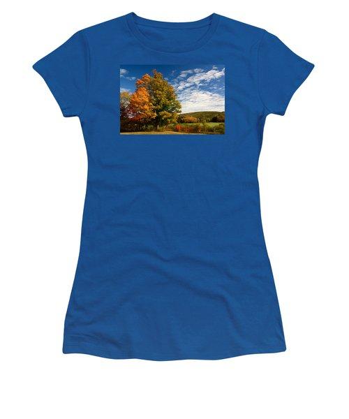 Autumn Tree On The Windham Path Women's T-Shirt