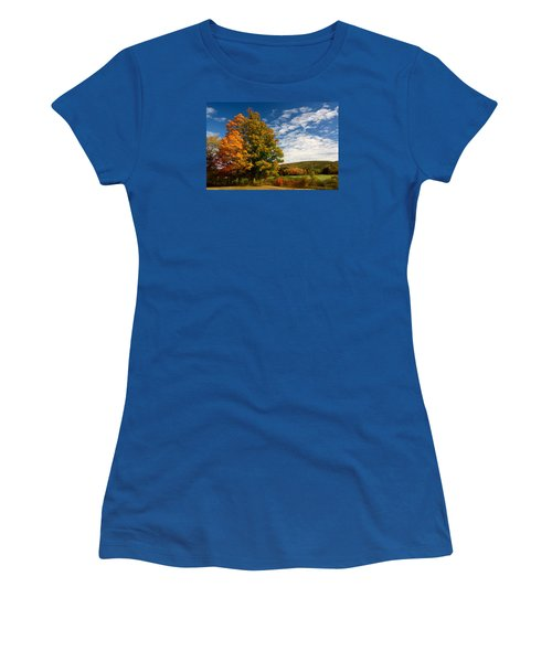 Autumn Tree On The Windham Path Women's T-Shirt (Athletic Fit)