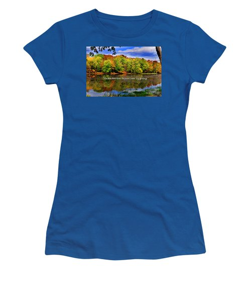 Autumn Wonders Giving Women's T-Shirt (Junior Cut) by Diane E Berry