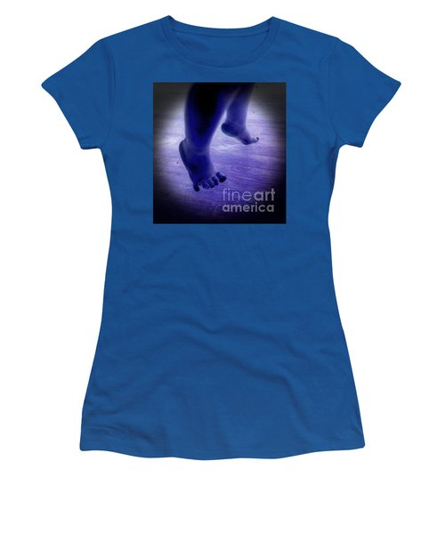 Baby Blu Dancing Royal Feet Women's T-Shirt (Junior Cut) by Talisa Hartley