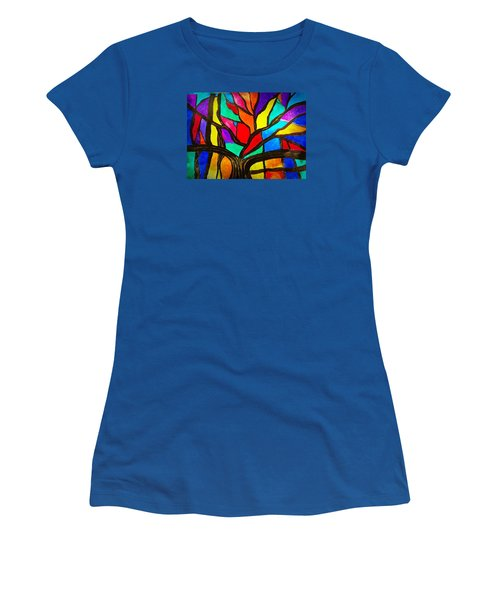 Banyan Tree Abstract Women's T-Shirt (Athletic Fit)
