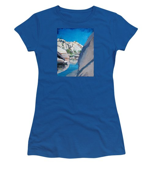 Barker Dam Women's T-Shirt (Junior Cut) by Richard Willson
