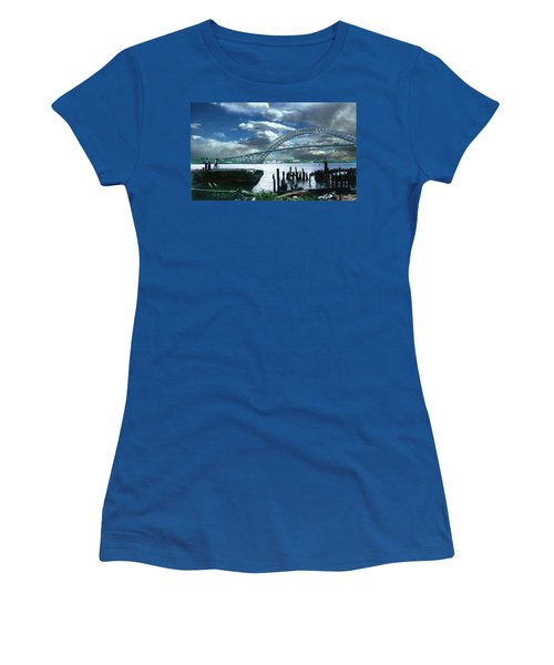 Bayonne Bridge Women's T-Shirt (Athletic Fit)