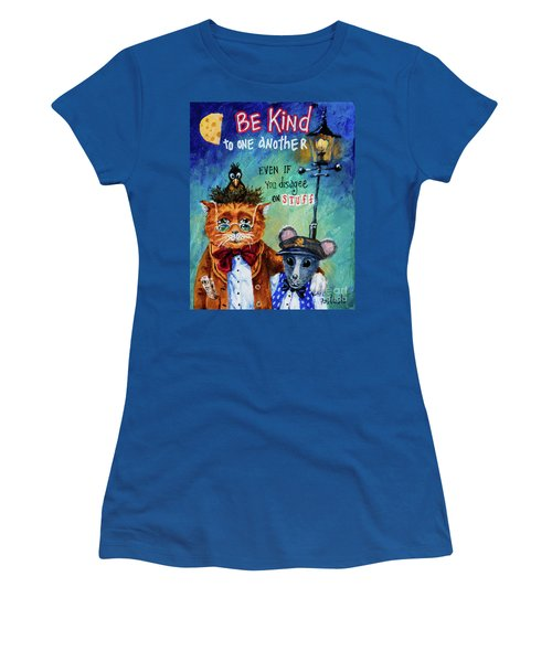 Be Kind Women's T-Shirt (Junior Cut) by Igor Postash
