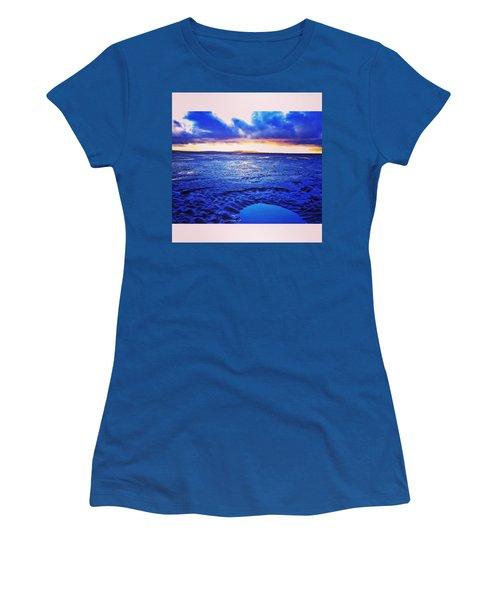 Beach Puddle. #beach #sunset Women's T-Shirt
